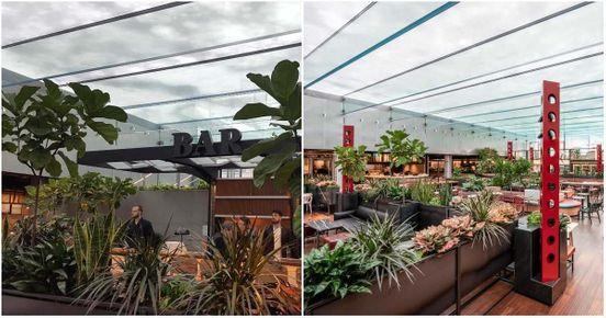 Coup d'œil sur Le Cathcart, la nouvelle aire de restauration au plafon