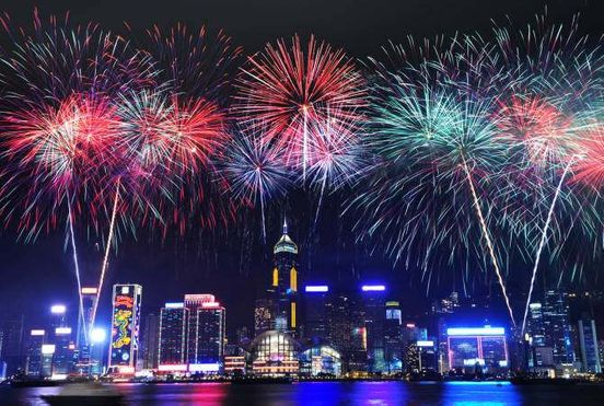 New Year's fireworks were canceled in Hong Kong due to riot threat