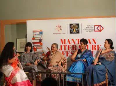 Actress Smita Jaykar delivers a motivational session at literature festival held in Delhi