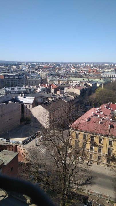 Widok na miasto z wieży Polska, Kraków