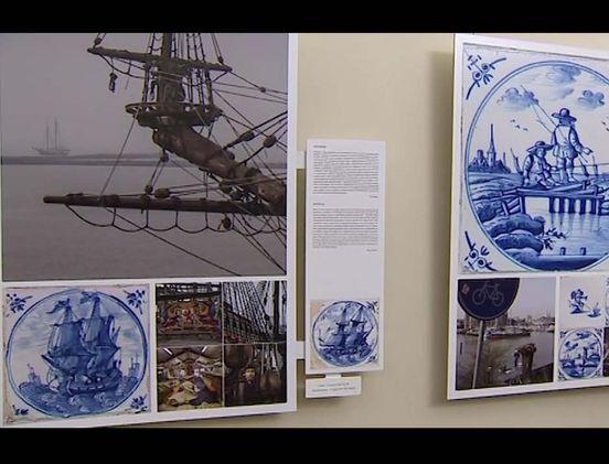 Фотографии, вдохновленные голландской плиткой, на выставке в Санкт-Пет