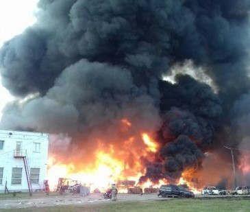 Во время пожара на предприятии погиб электрик