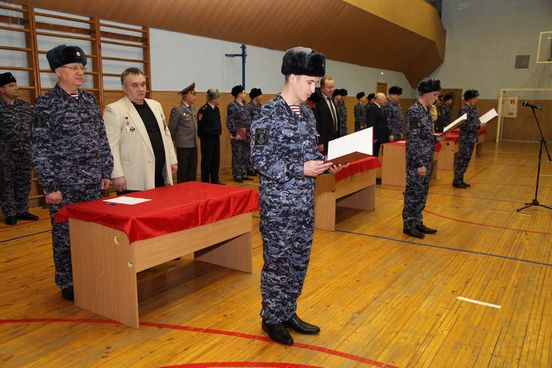 В Казани сорок восемь новобранцев из вневедомственной охраны Росгварди