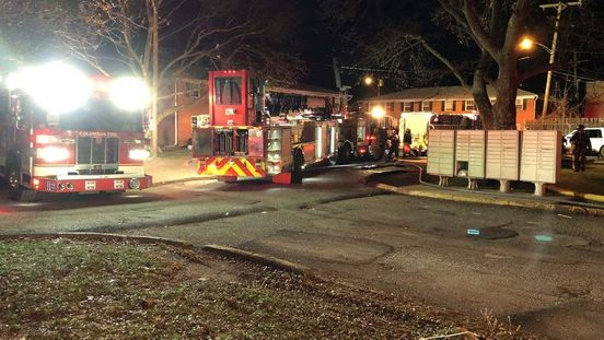 Apartment building in northeast Columbus catches fire