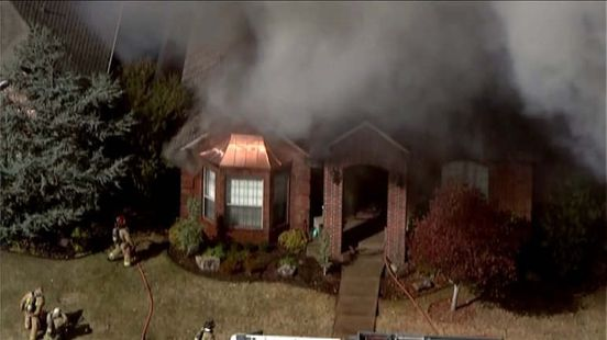 Firefighters battling large house fire in Oklahoma City