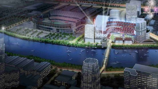 Group pushing for the MLB team in Nashville releases the proposed stadium renderings