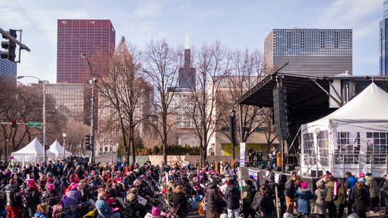Thousands came to Women's March Chicago held in Grant Park in support