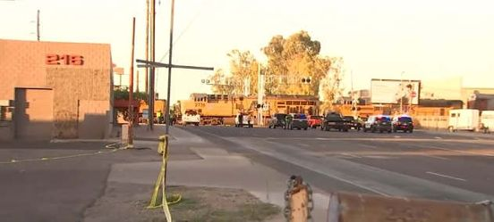 Moving train hit by SUV in Mesa, forcing major street closures