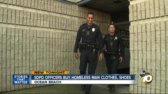 Police officer bought clothes for the suspect