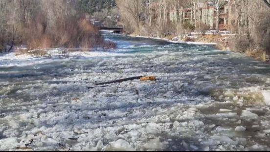 For Roaring Fork River, Ice Jam Warning Issued