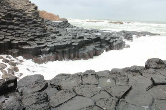 Interesting basaltic reef Gen Da Dia in the province of Fuyen